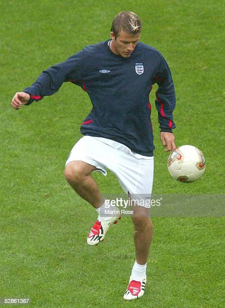 WM 2002 in JAPAN und KOREA Shizuoka TRAINING/ENGLAND David BECKHAM