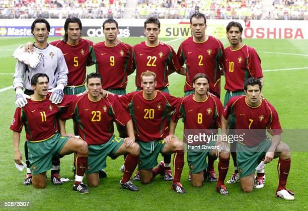WM 2002 in JAPAN und KOREA Suwon GRUPPE D/USA PORTUGAL 32 hintere Reihe vlnr TORWART Vitor BAIA Fernando COUTO PAULETA BETO Jorge COSTA Rui COSTA...