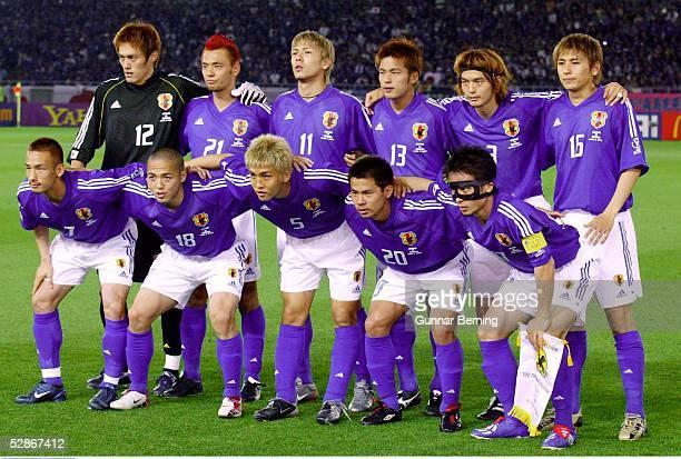 WM 2002 in JAPAN und KOREA Yokohama GRUPPE H/JAPAN RUSSLAND 10 hintere Reihe vlnr TORWART Yoshikatsu KAWAGUCHI Kazuyuki TODA Takayuki SUZUKI Atsushi...