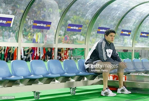 WM 2002 in JAPAN und KOREA Yokohama Match 64/FINALE/DEUTSCHLAND BRASILIEN Michael BALLACK/GER auf der Mannschaftsbank
