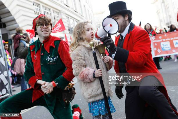 In keeping with HamleysÕ tradition where a child opens the famous store every morning with the ring of a bell Dulcie Dunnett aged 6 from South London...