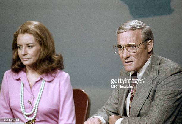 SHOW 'TODAY in Los Angeles Week 1972' Pictured Coanchor Barbara Walters coanchor Frank McGee on June 5 1972 in Los Angeles CA