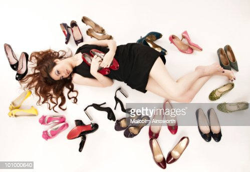 In love with shoes : Stock Photo