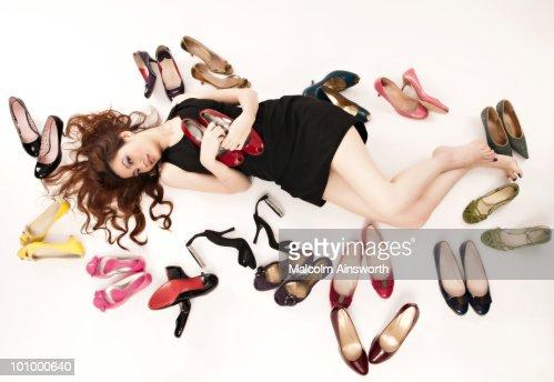 In love with shoes : Bildbanksbilder