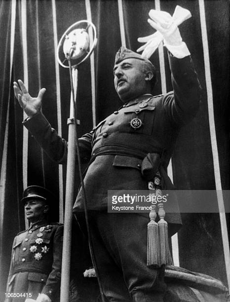 In MayJune 1939 At The Time Of The Victory Of The ProFranco Troops In Spain Franco Giving A Speech In The Ruins Of Alcazar De Toledo A Symbol Of The...