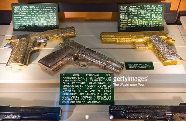 In Mexico City the military has a museum used to train officials diplomats and cadets about the war on drugs Various guns seized from cartel members...