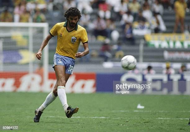 WM 1986 in Mexiko Guadalajara 160686 Brasilien Polen 40 SOCRATES/BRA