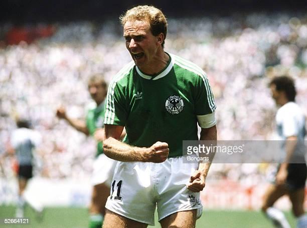 WM 1986 in Mexiko MexikoCity 290686 Deutschland Argentinien 23/Finale KarlHeinz RUMMENIGGE/GER