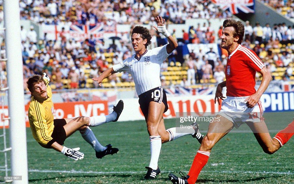 WM 1986 in Mexiko Monterrey ENGLAND POLEN 30 TOR ZUM 10 Gary LINEKER/ENG