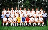 FUSSBALL WM 1986 in MEXIKO TEAM GER hinten vl Rudi VOELLER Wolfgang ROLFF Guido BUCHWALD Wolfgang FUNKEL HansPeter BRIEGEL Uwe RAHN Thomas BERTHOLD...