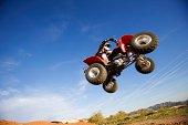 ATV in midair, Arizona