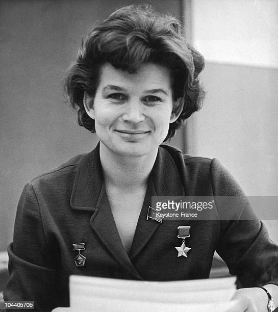 In Moscow on December 31 the spacewoman Valentina TERESHKOVA wished a happy new year to the Soviet people
