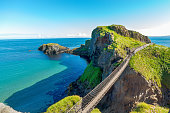in Northern Ireland rope bridge, Carrick-a-Rede