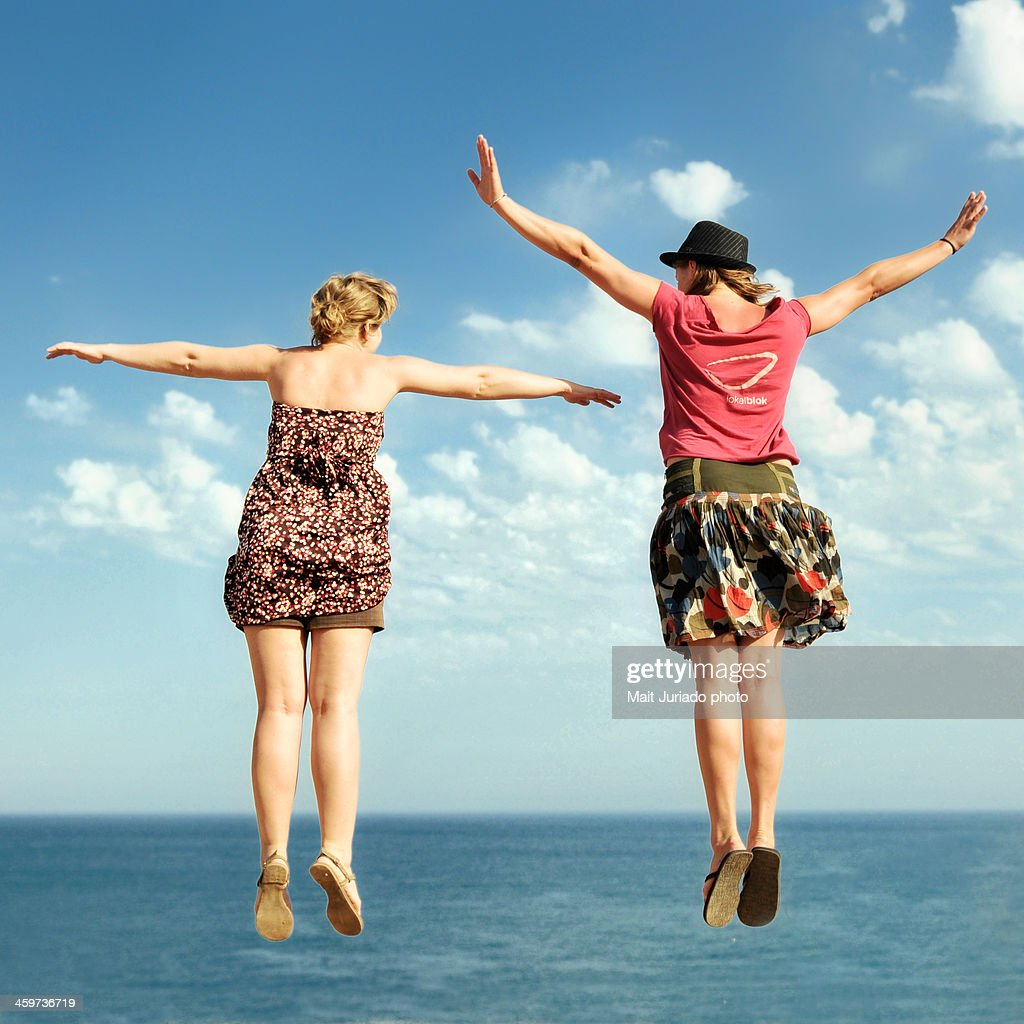Image result for two girls flying