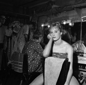 TODAY 'TODAY in Paris 1959' Pictured A Bluebell Girl of Le Lido backstage in Paris France from April 27 May 1 1959 Photo by NBC/NBC NewsWire