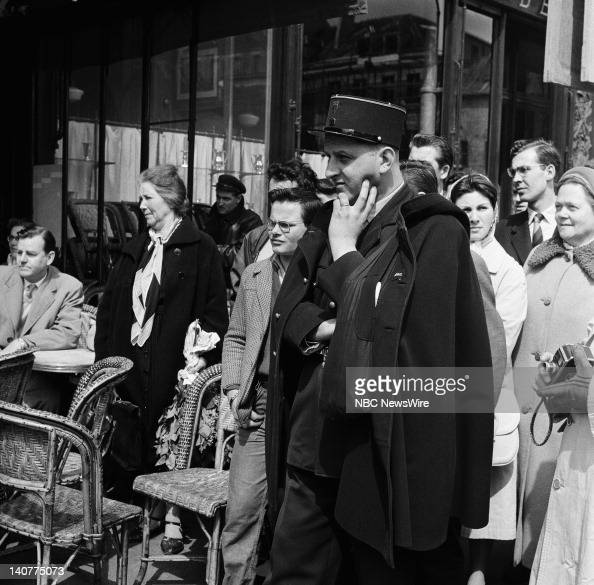 TODAY 'TODAY in Paris 1959' Pictured Local crowds gather to watch a taping of TODAY in Paris France from April 27 May 1 1959 Photo by NBC/NBC NewsWire