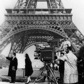 TODAY 'TODAY in Paris 1959' Pictured NBC camera crew film a segment in front of the Eiffel Tower for TODAY in Paris France from April 27 May 1 1959...