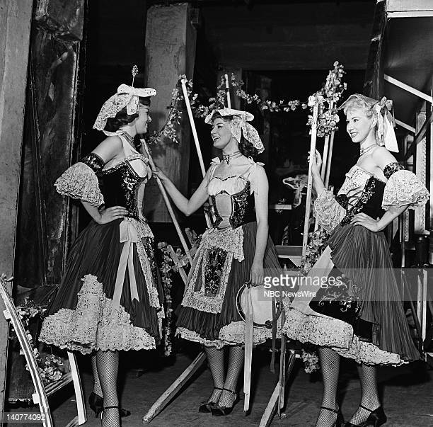 TODAY 'TODAY in Paris 1959' Pictured The Bluebell Girls of Le Lido backstage in Paris France from April 27 May 1 1959 Photo by NBC/NBC NewsWire