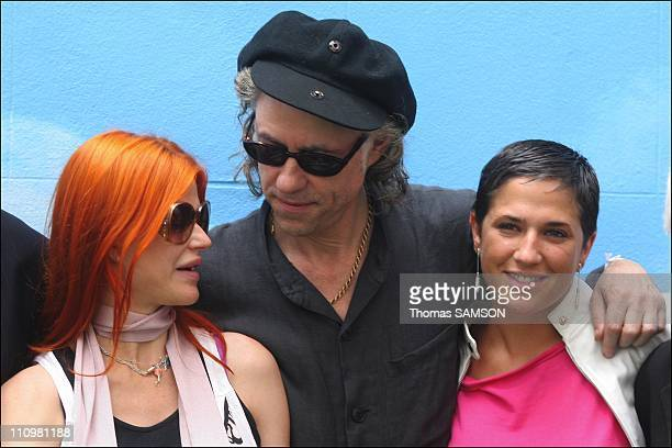 In Paris France on June 17th Axelle Red Bob Geldof Diam's Cerrone in Bob Geldof's announcement of his concerts on 4 continents on July 2nd 2005 in...
