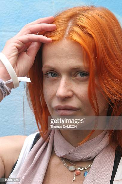In Paris France on June 17th Axelle Red in Bob Geldof's announcement of his concerts on 4 continents on July 2nd 2005 in London Versailles Rome...