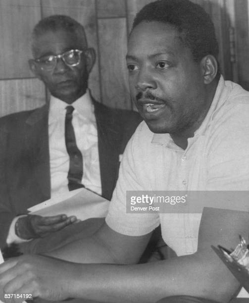 In photo at right are the Rev F C Williams left and Howard Coleman Jr owner of Coleman's Janitorial Service The Rev Mr Phillips announced that a...