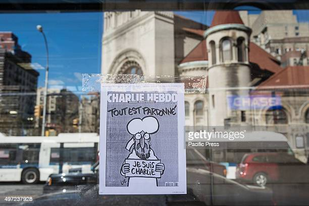 In recollection of the previous Paris attack on the offices of the satirical French magazine 'Charlie Hebdo' a xerox of the magazine's controversial...