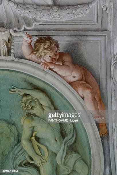 In Rome at the Palace Farnese which is also the french Embassy restoration of the Gallery painted by the brothers Carrache on August 27 2015The...