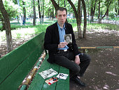 in Russia KrioRus one of the 2 world company for animal and human cryonics Alexei 34 years with the picture of his mother died of cancer 5 years ago...