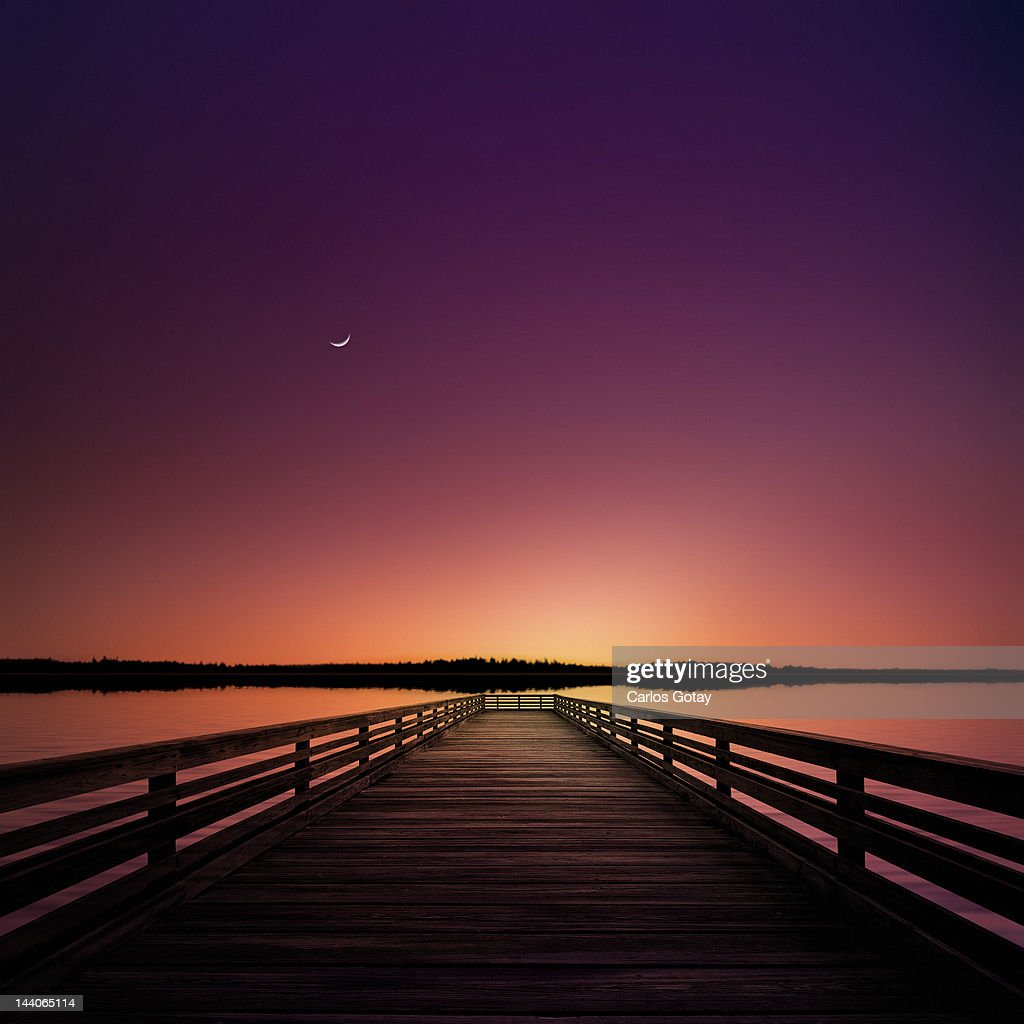 In Solitude of Evening : Stock Photo