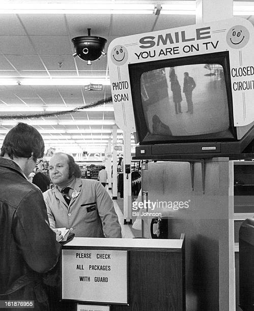 NOV 27 1972 In store Television System Keeps Constant Vigil Security guard Tony Diamond is aided in watch for shoplifters at target Store by five...
