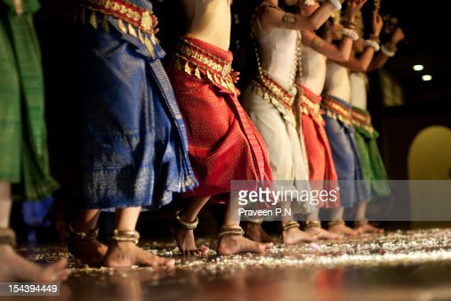 In sync - Apsaras dancing : Stock Photo