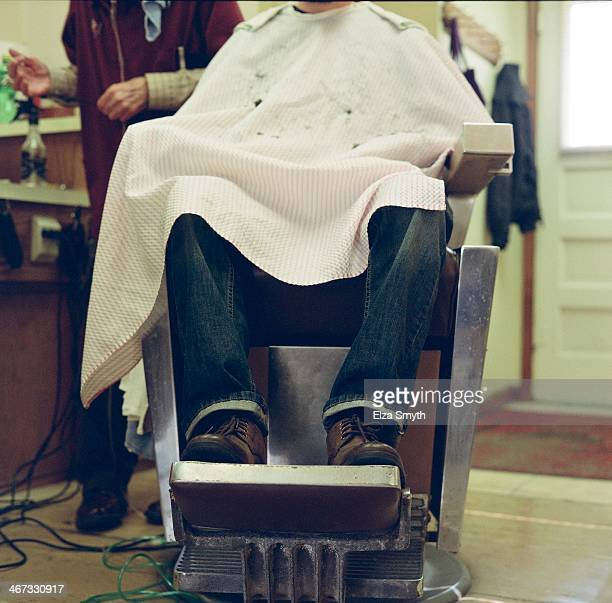 In the barber chair