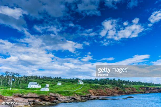 In the beautiful Gaspésie region, the Saint Lawrence River and Bonaventure Island in Percé, with its abandoned houses since, apart from a few buildings used by the government, nobody has lived on the island since 1971.