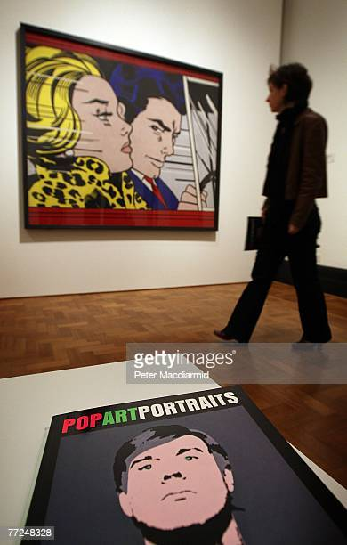 'In the Car' by Roy Lichtenstein is displayed at the Pop Art Portraits exhibition at National Portrait Gallery on October 10 2007 in London 52 key...