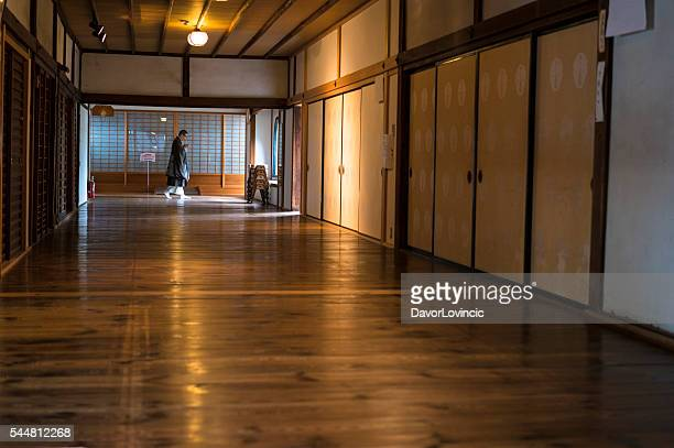 In the corridor of Chion.ji temple in Kyoto, Japan