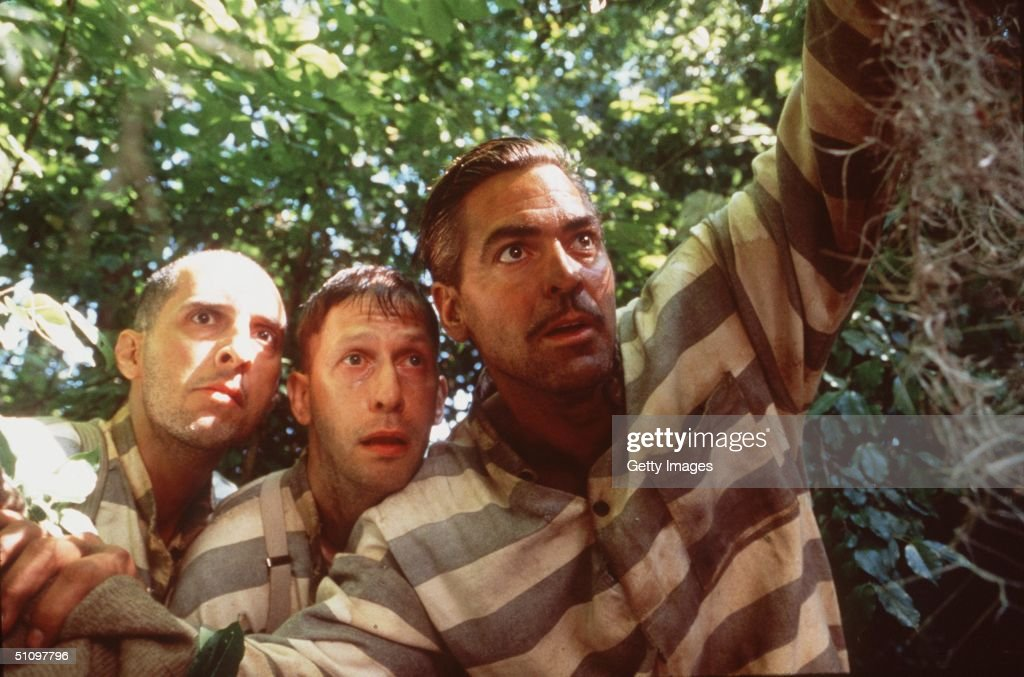 In The Depression-Era Deep South (From L-R), Three Escapees From A Mississippi Prison Chain Gang: Pete (John Turturro), Delmar (Tim Blake Nelson) And Everett Ulysses Mcgill (George Clooney), Embark On The Adventure Of A Lifetime As They Set Out To Pursue Their Freedom And Return To Their Homes, In Touchstone Pictures/Universal Pictures' Drama, 'O Brother, Where Art Thou?' (Tentative Title).