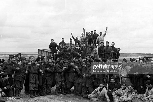 In the Donetz basin an air base of the Italian Expeditionary Corps in Russia celebrating a victorious action Ukraine June 1942