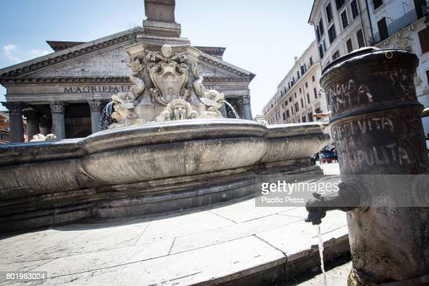 In the face of drought the possibility to close or reduce the flow of water of the 'Nasone' the historical fountains of the City according to what is...