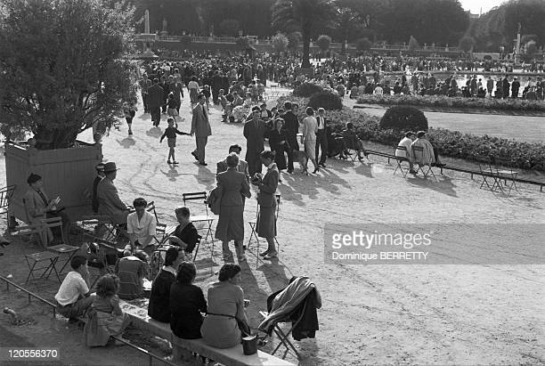 In The Fifties In Paris France The Luxembourg Gardens on a day off