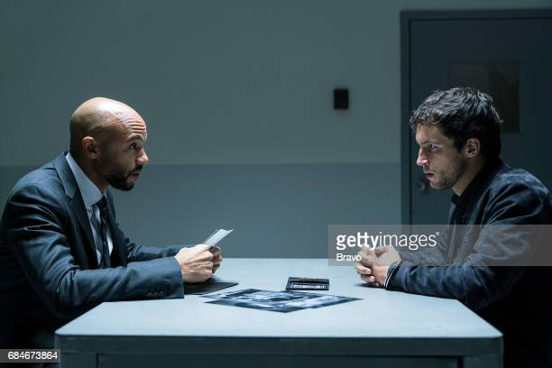 IMPOSTERS 'In the Game' Episode 108 Pictured Stephen Bishop as Patrick Rob Heaps as Ezra