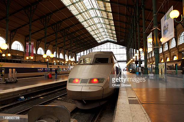 TGV in the Gare du Nord railway station.