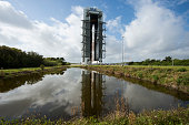 In the handout photo from NASA the United Launch Alliance Atlas V rocket with NASA's Magnetospheric Multiscale spacecraft onboard rolls out of the...