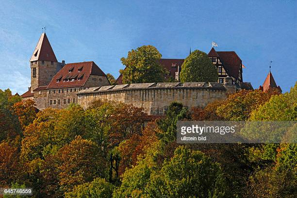 In the hills between the Thuringian Forest and the upper valley of the Main lies the former Duchy of SaxeCoburg and Gotha surveyed from a dolomite...