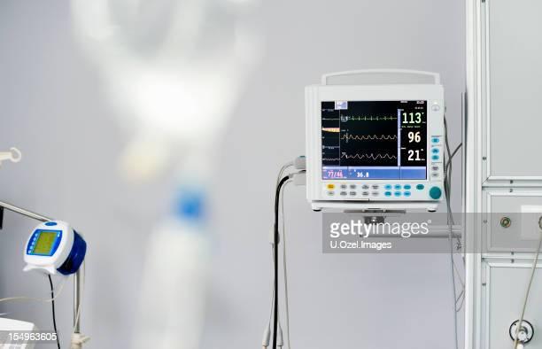 ECG (geduldig Messgerät) im Krankenhaus Zimmer