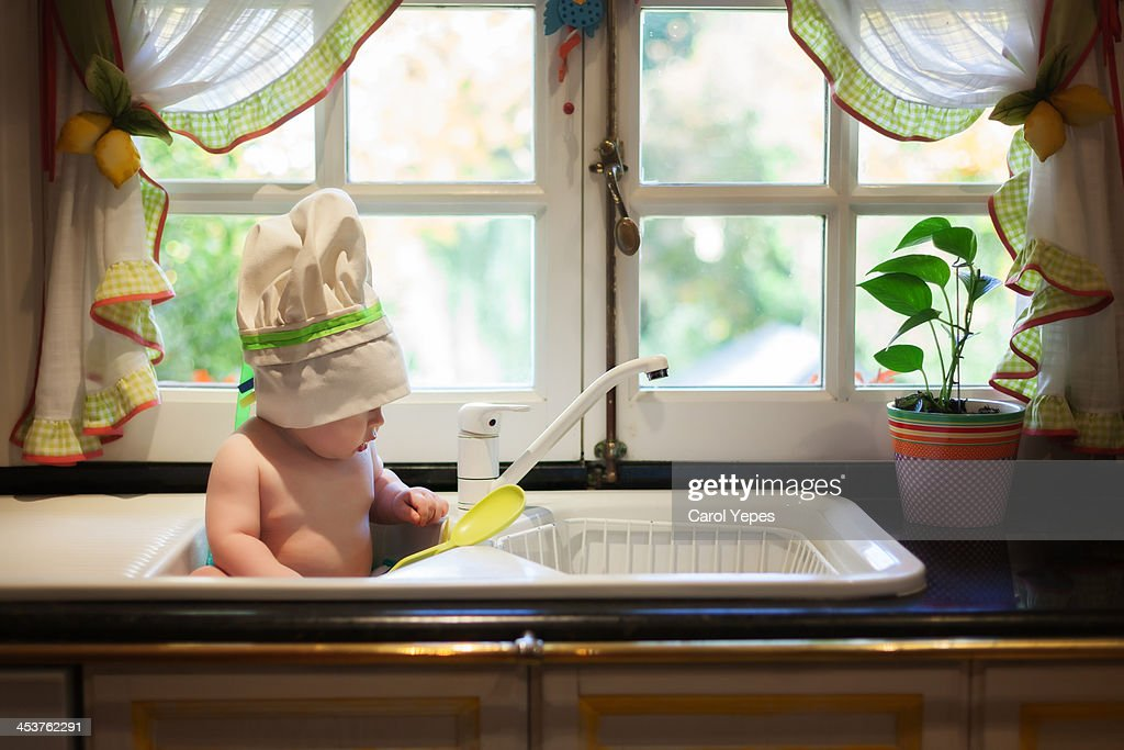 in the kitchen : Stock Photo