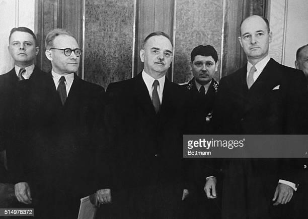 In the Kremlin NM Shvernik president of the presidium supreme soviet of USSR received GF Kennan ambassador extraordinary and plenipotentiary of the...