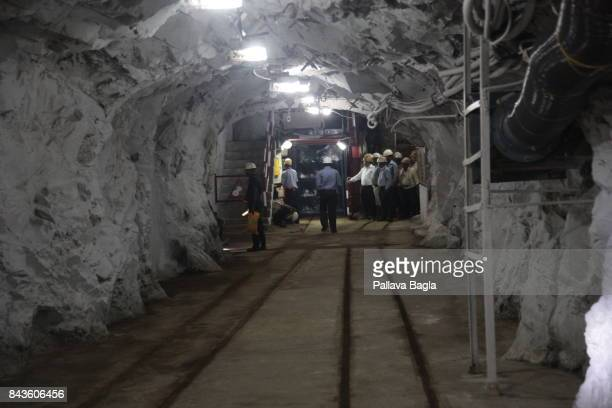 JADUGODA JHARKAHND INDIA SEPTEMBER 02 In the long underground tunnel leading to the new laboratory India has inaugurated its deepest underground lab...