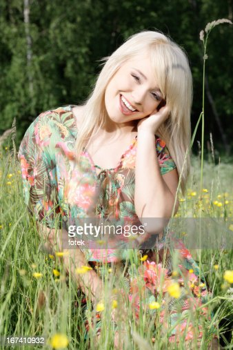 In the meadow : Stockfoto