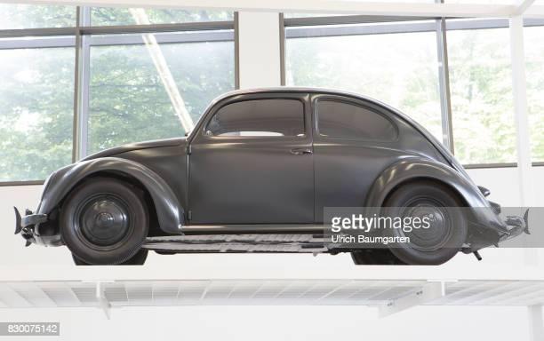 In the Museum Pinakothek der Moderne in Munich Ferdinand Anton Ernst Porsche car VW Beetle Type 11 from 1946