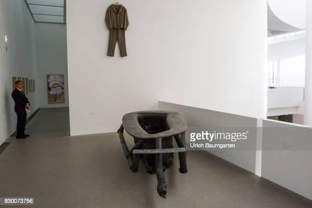 In the Museum Pinakothek der Moderne in Munich Joseph Beuys Felt suit1970 and Bathtub 1961
